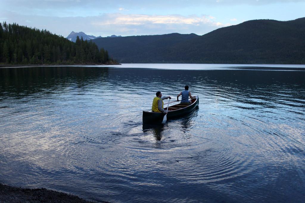 . Montana # 8.  People embark on a canoe ride at dusk on Lake McDonald in Glacier National Park, Montana, August 22, 2011. REUTERS/Matt Mills McKnight