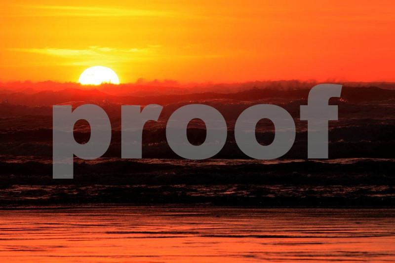 Pacific Ocean sunset, Grayland, WA