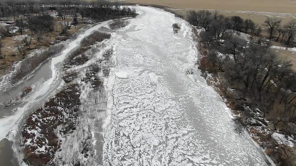2020-02-05 Elkhorn River Tilden Ice Jam