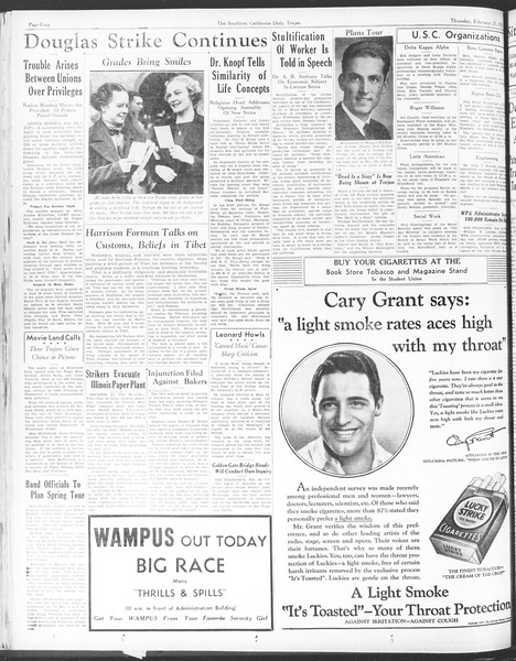 Daily Trojan, Vol. 28, No. 86, February 25, 1937