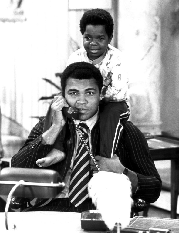. GaryColeman with Muhammad Ali in 1979. Denver post Library Archive