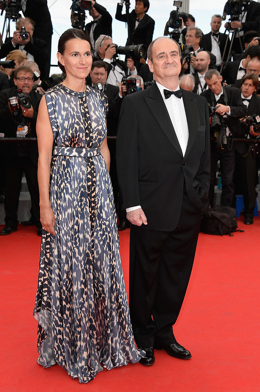 """. (L-R) French Minister of Cultural affairs Aurelie Filippetti and Pierre Lescure attend the Opening ceremony and the \""""Grace of Monaco\"""" Premiere during the 67th Annual Cannes Film Festival on May 14, 2014 in Cannes, France.  (Photo by Pascal Le Segretain/Getty Images)"""