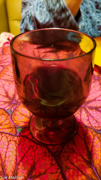 Much deserved glass of wine to end the day