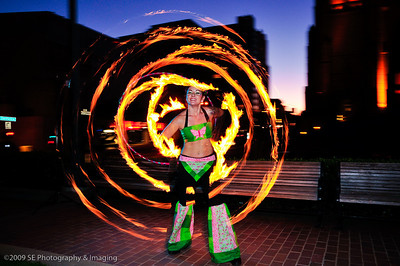 Fire Dancing Photo Capture at Grace Cathedral