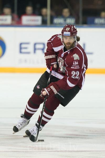 Ville Leino (22) controls the puck