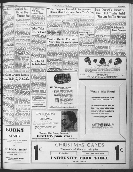 Daily Trojan, Vol. 25, No. 51, December 06, 1933