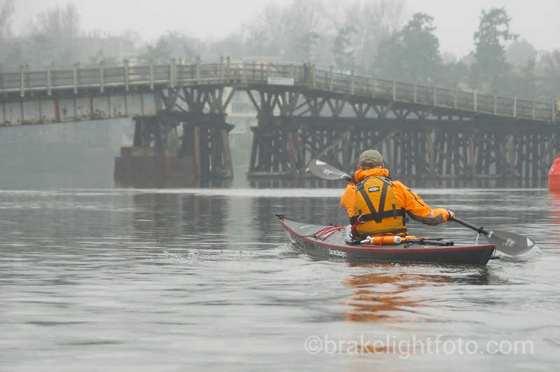 Kayaker and Selkirk Trestle