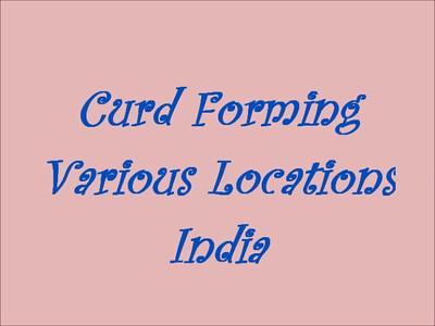 Curd Forming