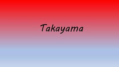 2018 Japan 8 Ceremonial Takayama