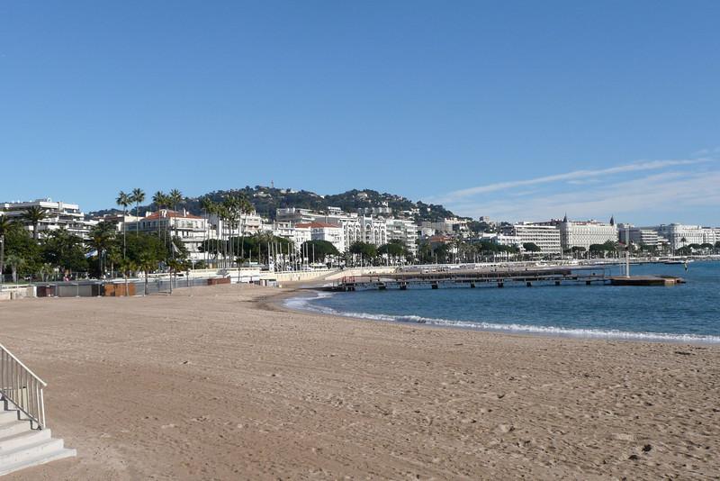 Sandy Beach. Cannes, France