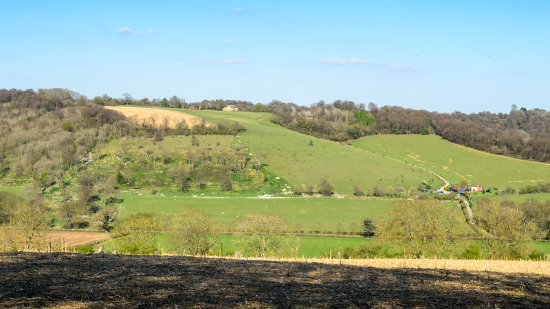Rolling landscape of the Chiltern Hills