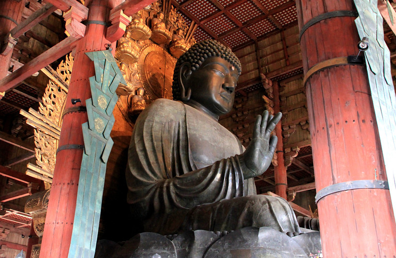 Daibutsu (Big Buddha) His open hand is as tall as a person