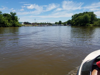 Water skiing  and river 2016