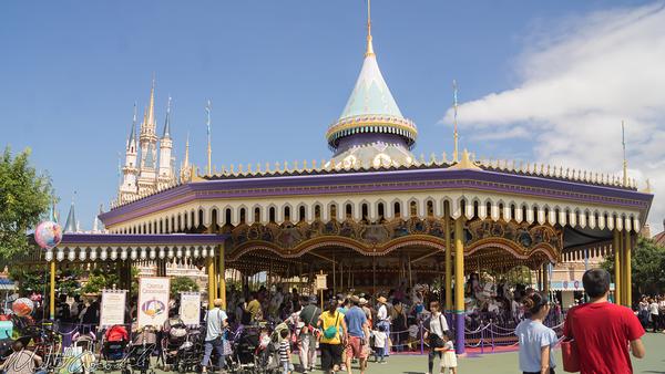 Disneyland Resort, Tokyo Disneyland, Fantasyland, Castle, Carousel, Castle Carouse