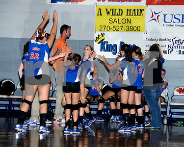 Marshall County Varsity VolleyBall vs. Murray, September 19, 2011. Marshall County Won 2 Of 3 Games.
