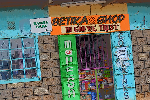 East Africa roadside shops
