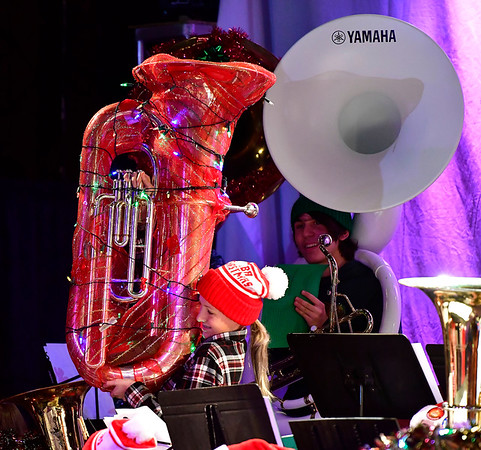 12/14/2019 Mike Orazzi | Staff Cassidy Kemp during the annual TubaChristmas concert held at Trinity-on-Main in downtown New Britain on Saturday.