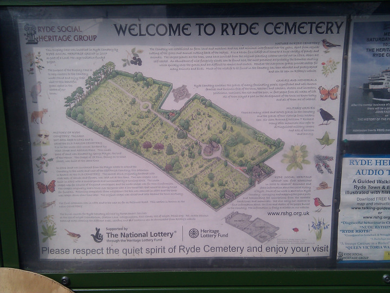 A cool cemetery at the top of Ryde