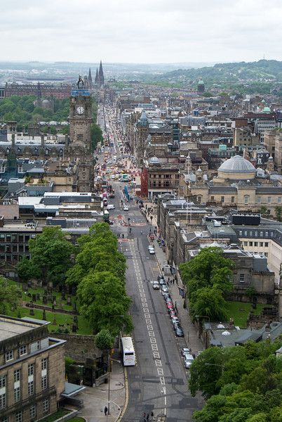 Princes Street was full of modern commerce.