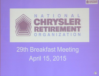 NCRO Meeting 2015 04 15