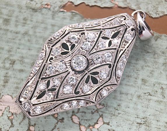 Antique Old European Cut Diamond Pendant