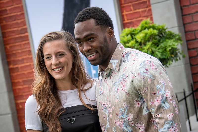 WESTWOOD, CALIFORNIA - JUNE 02: Brandin Cooks and wife Briannon Cooks attend the Premiere of Universal Pictures' 'The Secret Life Of Pets 2' at Regency Village Theatre on Sunday, June 02, 2019 in Westwood, California. (Photo by Tom Sorensen/Moovieboy Pictures)