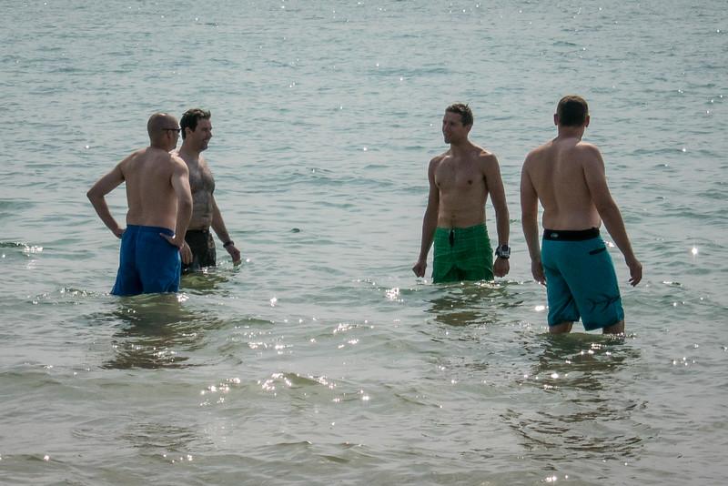 And a swim