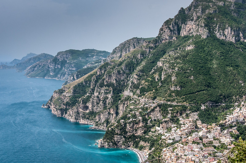 Panorama of the beautiful Amalfi Coast in Italy