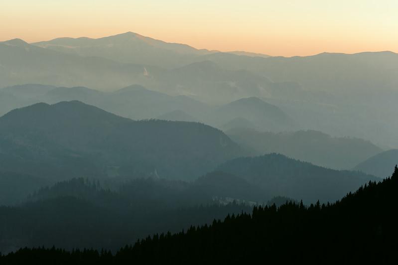Silueta de munte