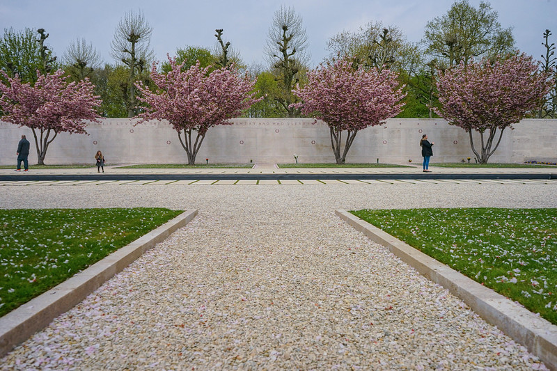 02_Honor Wall and Cherry Blossoms_Netherlands American Cemetery Netherlands.jpg