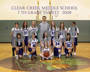 Varsity 7th Grade Girls Basketball Team Pictures