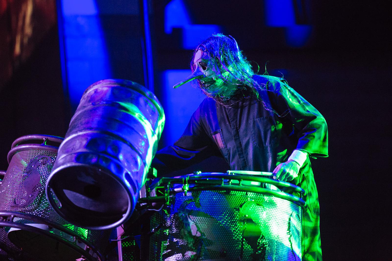 Chris Fehn of Slipknot by Adam Elmakias at Knotfest 2015