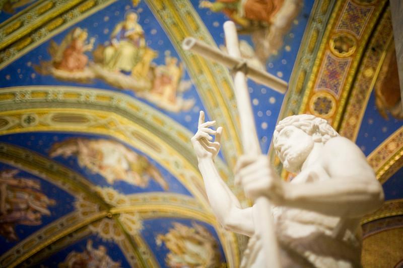 John the Baptist sculpture, by G. Obici (19th century), Santa Maria Sopra Minerva Basilica, Rome