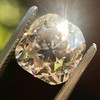 4.03ct Light Fancy Brown Antique Cushion Cut Diamond Halo Ring GIA LFB, SI1 7
