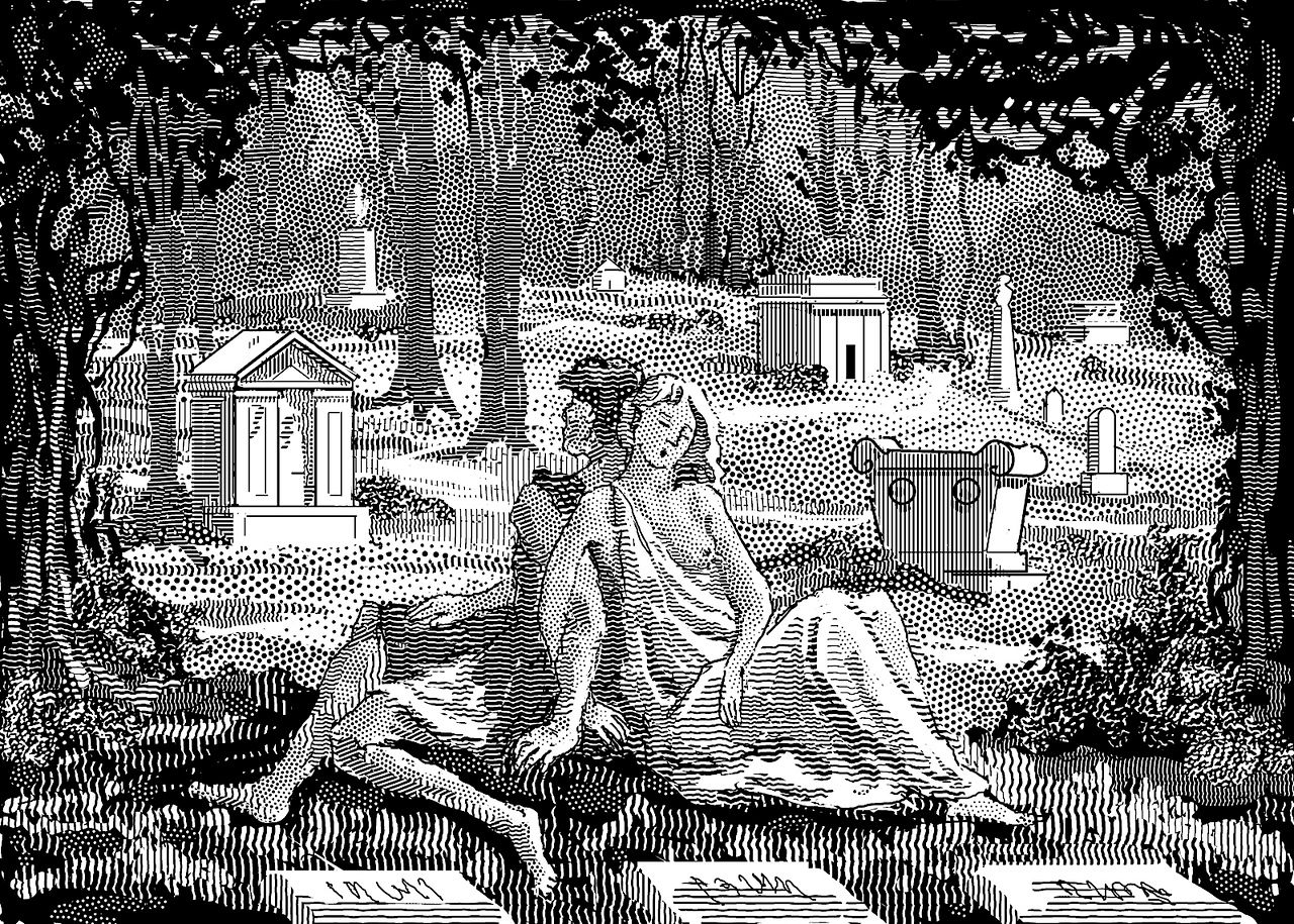 Illustration for Hawthorne short story, The New Adam and Eve