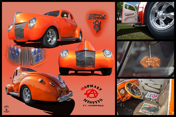1940 Ford Coupe Orange Randy Haskel