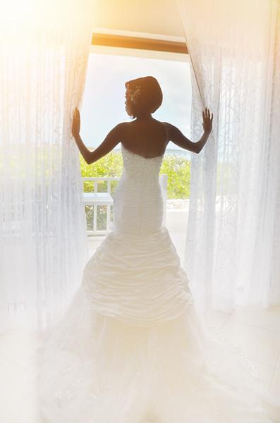 African Bride in Exuma Bahamas