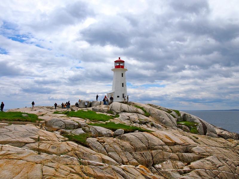 Peggys Cove Lighthouse in Nova Scotia, Canada