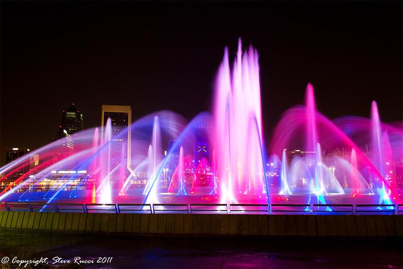 Friendship Fountain, Jacksonville, Florida.