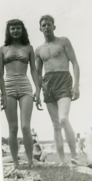 Circa: 1947, Art & Dodie on their honeymoon on Minneapolis