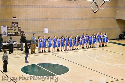 January 24, 2018 - 7th Grade Girls Basketball Team B - Game