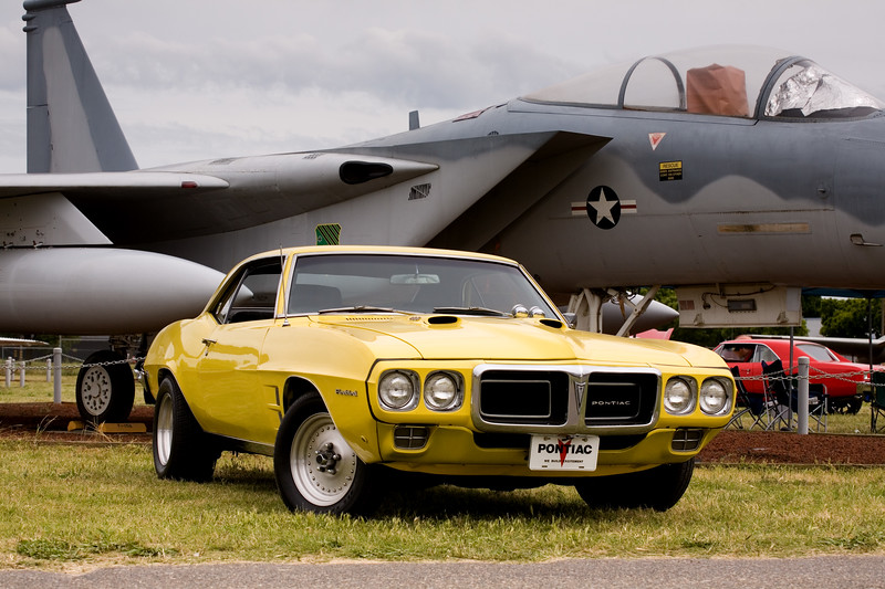 The Firebird in front of an F-15 at the Castle Air Museum, April 22, 2017.