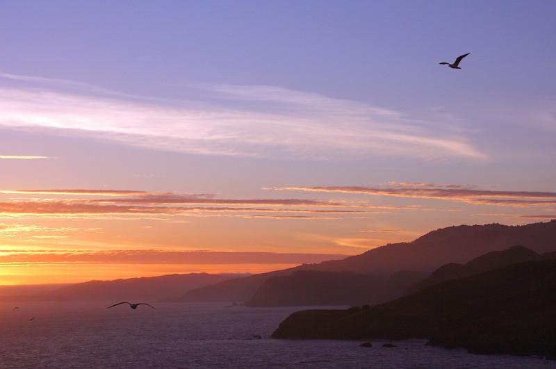 Sunset from the Marin Headlands, California.