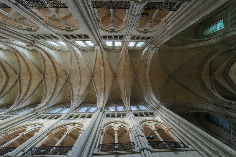 Noyon Cathedral Nave and Crossing Vaults