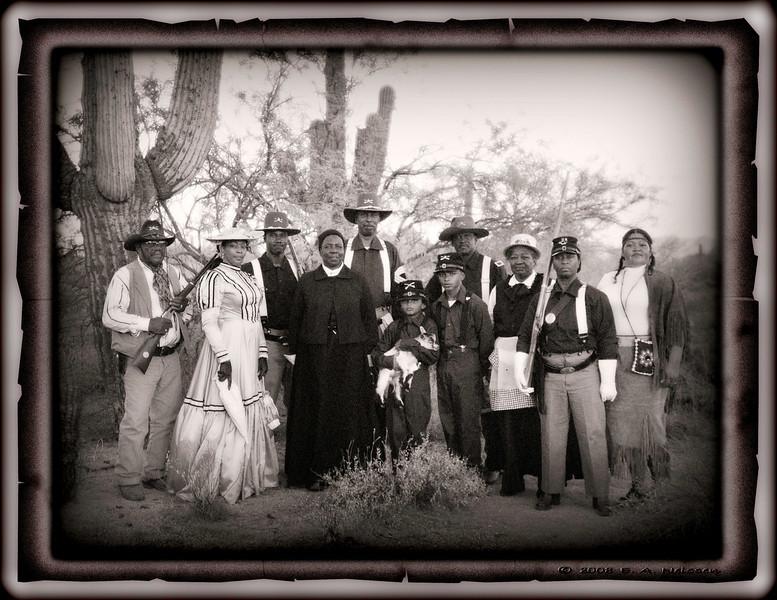 ARIZONA BUFFALO SOLDIERS, MESA, AZ... Apache Peak Ranch, Scottsdale, AZ. City of Scottsdale Councilmembers. Buffalo Soldiers of the Arizona Territory - Ladies and Gentlemen of the Regiment.  August 9, 2008