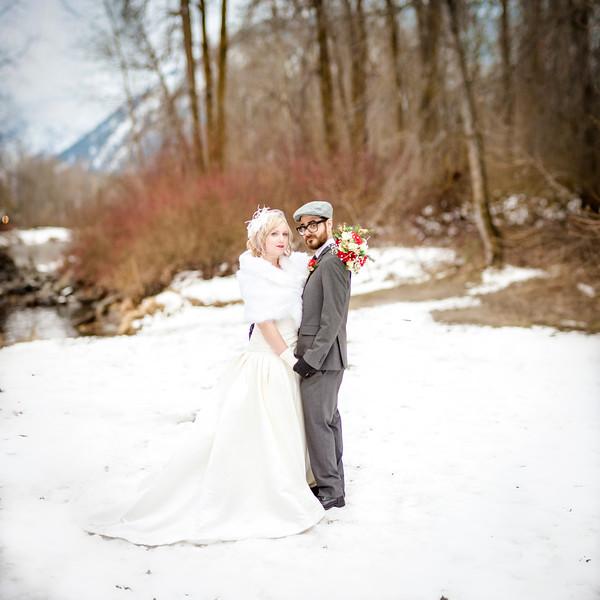Jesse + Tiffany {Elopement in Leavenworth} December 2014