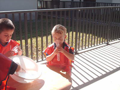 PreK Week 20 Edible Suns, First Grade Buddies and the Bernoulli Principle