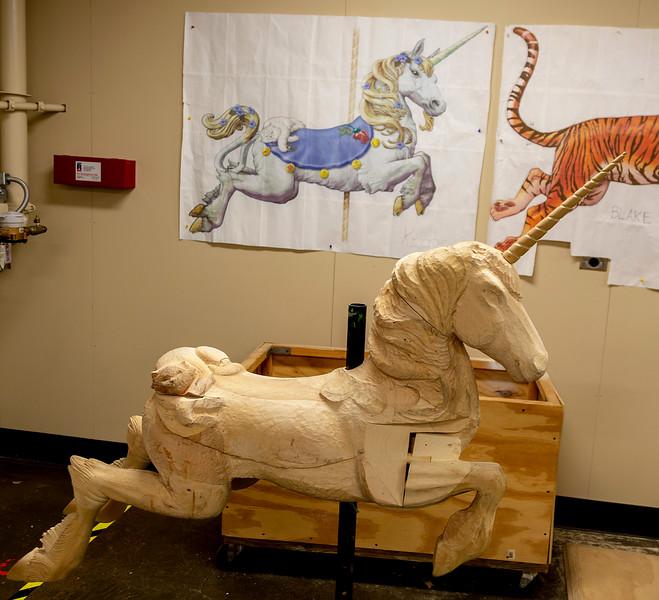 A Unicorn ride under construction