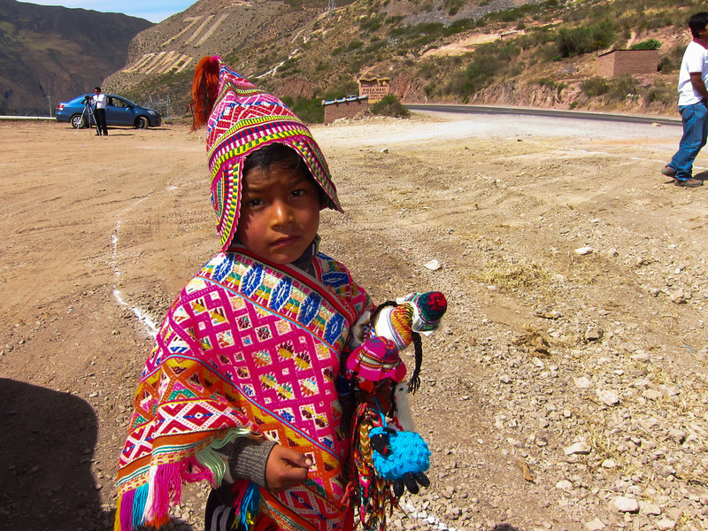 Boy in traditional Peruvian clothing