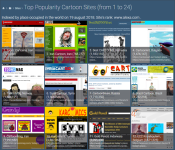 Top Popularity Cartoon Sites (from 1 to 24) @ 19.11.2018